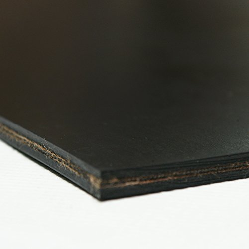 Replacement Conveyor Belt - Rubber-Cal Heavy Black Conveyor Belt - Rubber Sheet - .30(2Ply) Thick x 10