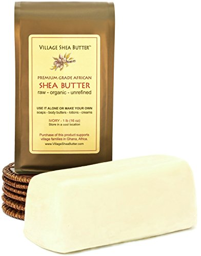 Village Shea Butter - Raw Organic Unrefined - 1 lb Mango Shea Butter Lotion