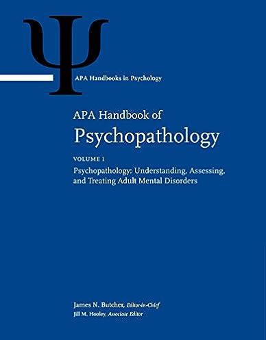 amazon com apa handbook of psychopathology volume 1 rh amazon com apa manual 7th edition amazon APA format