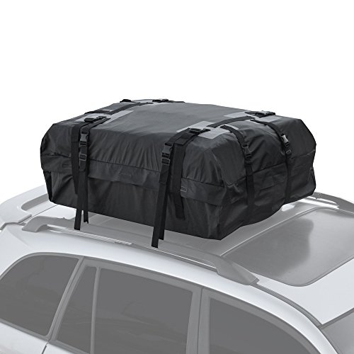 Motor Trend RC-200 Haul Waterproof Roof Top Cargo Bag for Suv Van Car Auto (Soft Rooftop Carrier XL Supersonic Seals Heavy Duty Gear) (2000 Nissan Quest Van)