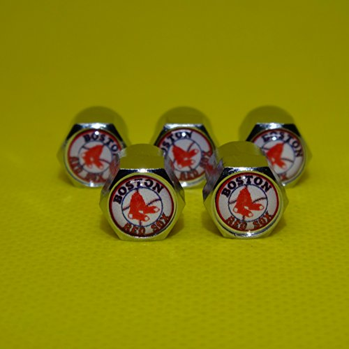 Buycleverly Boston Red Sox Metal Tire Valve Stem Caps Set/5 Pcs Boston Red Sox Candle
