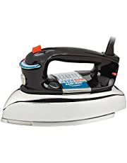 BLACK+DECKER Classic Steam Iron, 7 Settings with Auto Shut Off, Wet or Dry Ironing, Black/Silver, F67ED