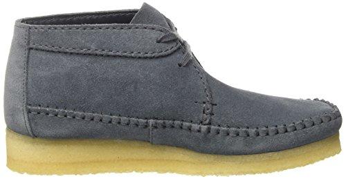 Clarks Originals Damen Weaver Boot. Chukka Blau (Slate Suede)