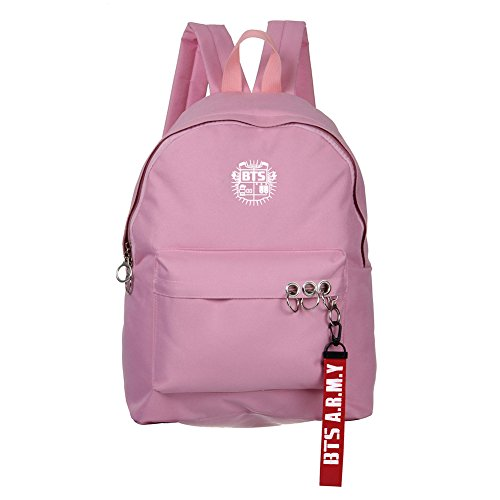 Skisneostype KPOP BTS Backpack Unisex Canvas Bangtan Boys Starry Sky Satchel Schoolbag Sports Bags Pink 2