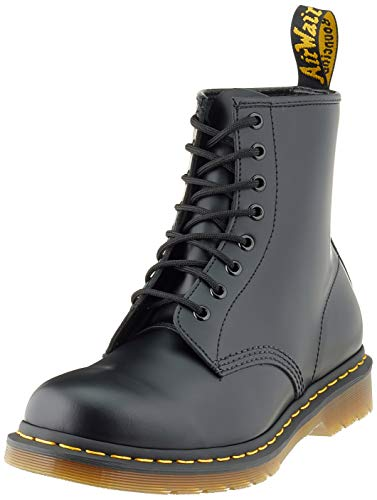Dr. Martens 1460 Originals 8 Eye Lace Up Boot, Black Smooth Leather, 7UK / 8 US Mens / 9 US Womens, 41 EU