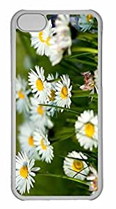 iPhone 5C Case, Personalized Custom Spring Daisies for iPhone 5C PC Clear Case by mcsharks