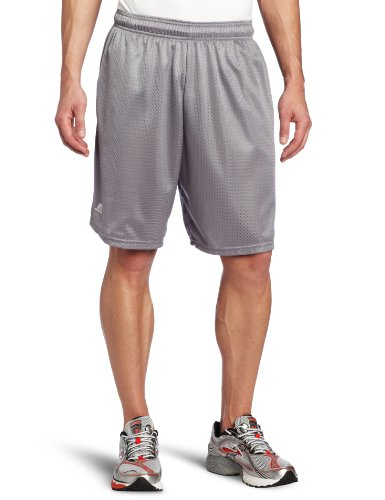 Russell Athletic Men's Mesh Short with Pockets, Steel, Medium