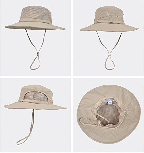 WDA Cotton Fisherman Hats Man Sun Hats Removable Multifunctional Wear Styles With Neck Cord UPF 50 Anti-UV Perfect for Fishing Beach Travelling Outdoor Activities