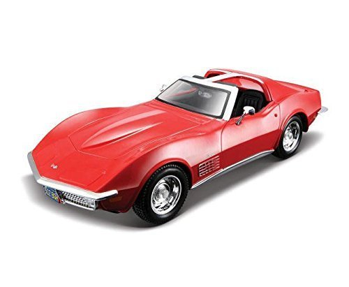 (Maisto 1970 Chevy Corvette T-Top 1/24 Scale Diecast Model Car Red)