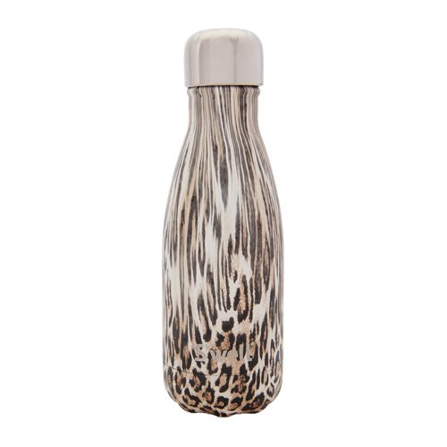 S'well Vacuum Insulated Stainless Steel Water Bottle, 9 oz, Khaki (09 Cheetah)