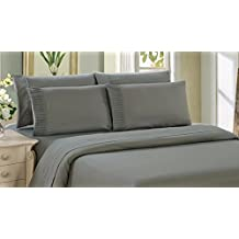 Bamboo Living 3 Piece Duvet Cover Set With Pillow Shams - King - Gray