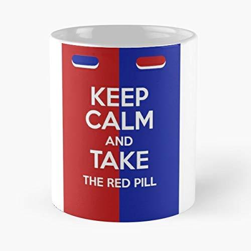 Neo Keep Calm Red Blue - Coffee Mugs Ceramic Best Gift