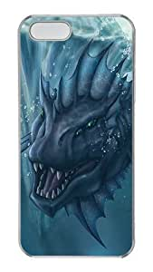 iPhone 5s Case and Cover - Sea Monsters Cool Design Transparent Clear Plastic Bumper Hard Case for iPhone 5s and iPhone 5