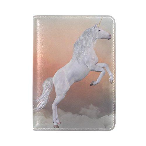 Costume Quest Map (Unicorn Pattern Print Leather Passport Cover - Holder - for Men & Women - Passport Case)