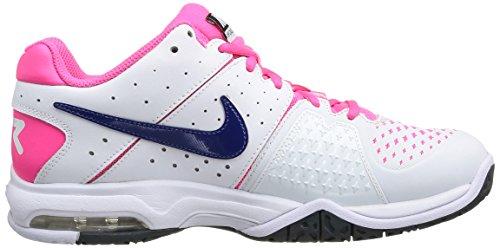 NIKE 599365 146 - Zapatillas de fitness de material sintético mujer Blanco (White / Dp Ryl Bl-Hypr Pnk-Dk Mg)