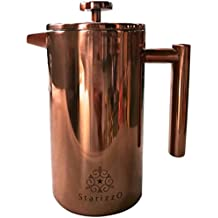 French Press Coffee Maker With Beautiful Copper Finish, Premium Insulated Stainless Steel & Spout Closure For High Heat Retention, NO Filter Replacement Needed, 34 oz, Dependable Quality