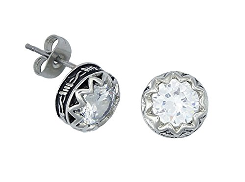 - Montana Silversmiths Women's Barbed Wire Rhinestone Post Earrings Silver One Size