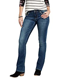 Women's Denimflex Asymmetrical Back Flap Pocket Slim Boot...