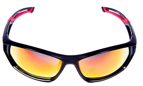 Hulislem Italy Engineered Lightweight Polycarbonate Frame Polarized Sunglasses for an Active Lifestyle (Active Lifestyle Sunglasses)