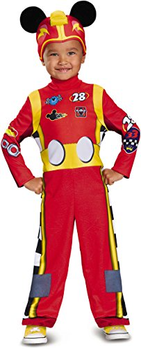 Mickey Roadster Classic Toddler Costume, Multicolor, Small -