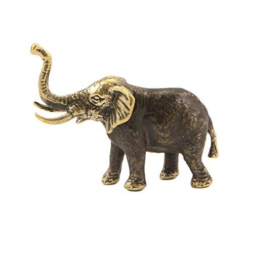Elephant Statuette (Elephant Bronze Statuette Handmade Figurine Souvenir)
