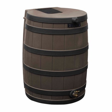 Rain Wizard 40 Inches Rain Barrels , Darkened Ribs, Oak