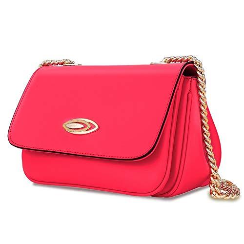 Sac Chaîne Messenger Et Rouge Bag Européen Américain Petit Féminine Rouge Bandoulière À Carré Cuir En Style qFBt8n
