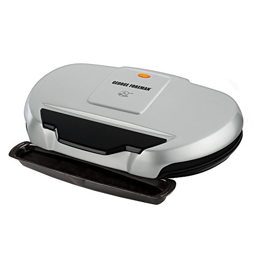 george-foreman-gr144-nonstick-9-serving-classic-plate-grill-133-square-inch-silver