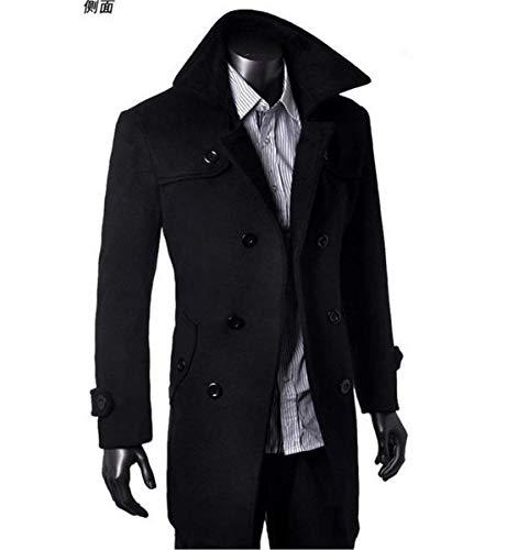Trench coat De Manteau Long D'hiver Automne Homme Veste