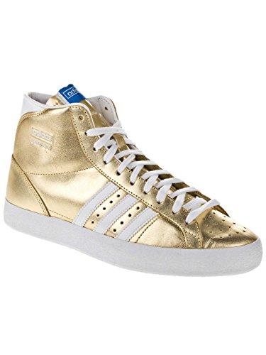adidas - Zapatillas de deporte de cuero para mujer Amarillo - metal gold/running white