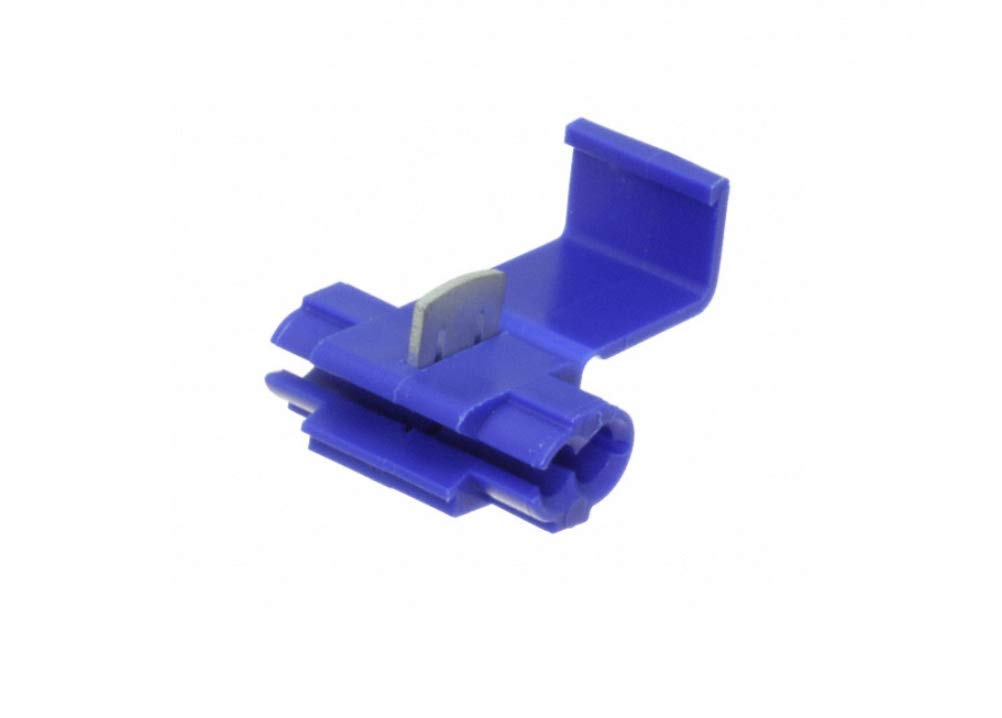 Equivalent to 3M Scotchlok 560B 100ct Ideal Electrical IDC Connector Blue 18-16AWG Solid//Stranded 14AWG Stranded