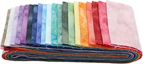 Quilt Fabric Strips (Bali Batiks Ombre Bali Poppy 20 2.5-inch Strips Jelly Roll Hoffman Fabrics BPP-681-OMBRE)