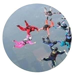alfombrilla de ratón 12 paracaidistas completan una formación en caída libre - ronda - 20cm