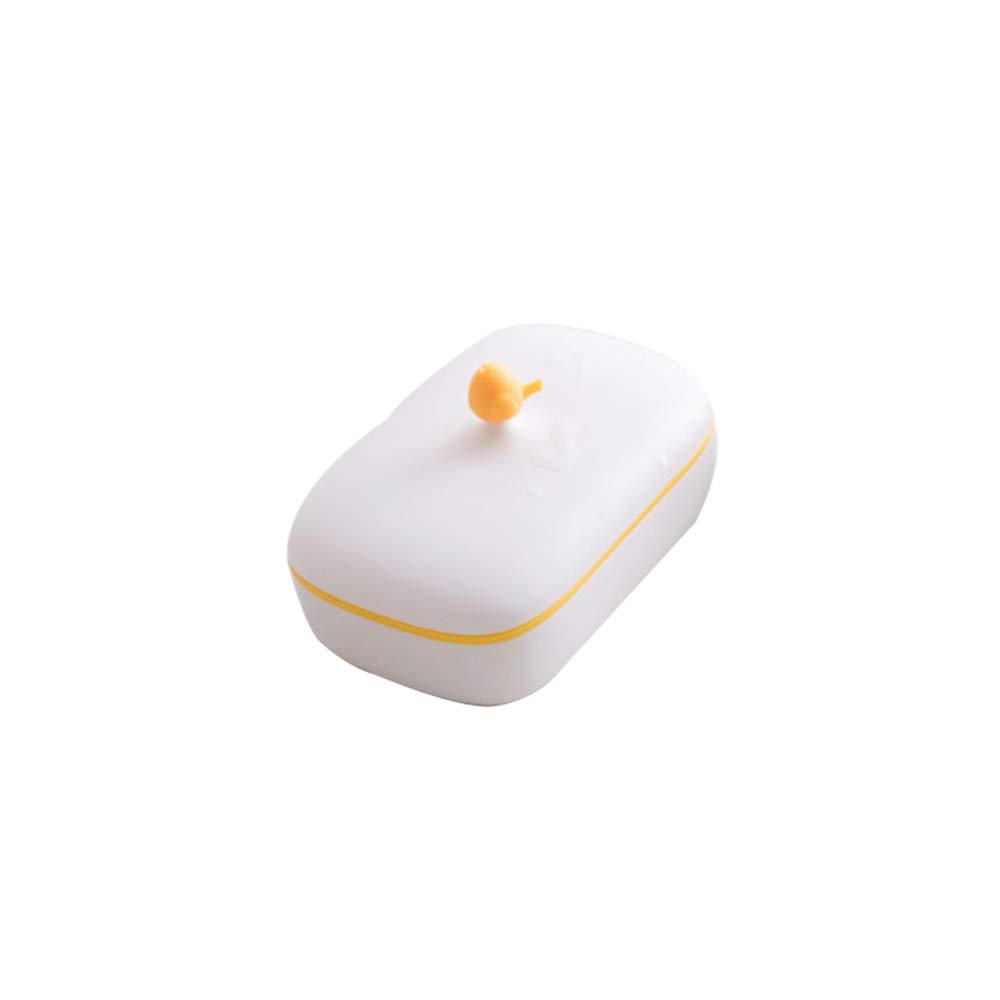 CTGVH 1pezzi di plastica Soap box del contenitore di sapone sapone di viaggio all' aperto palestra Storage, Silicone, Green and White, 13.1 * 8.3 * 7cm
