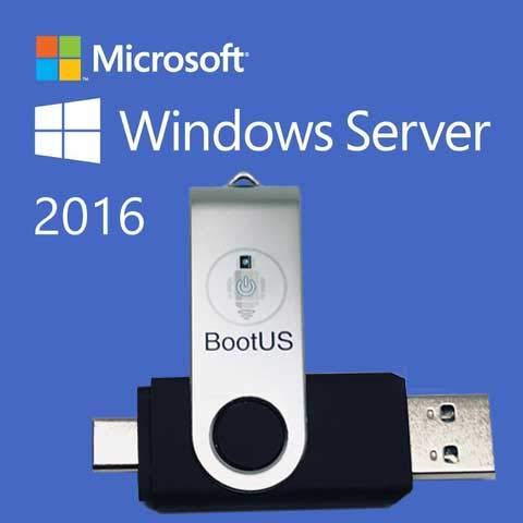 install windows server 2016 from usb key