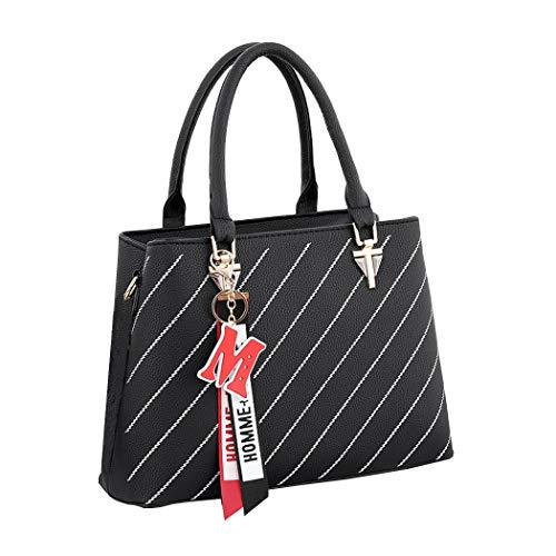 bandoulière épaule DEERWORD portés Sacs Sacs Cuir Kaki main Sacs Faux Cartable portés Noir Femme main à Sacs Sacs wrqPzw1