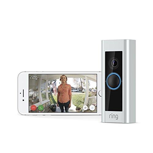 Timbre de video para timbre Pro, funciona con Alexa (requiere cableado de timbre existente)