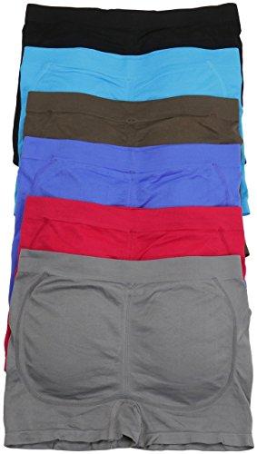 ToBeInStyle Women's Pack of 6 Padded Boyshorts - One Size