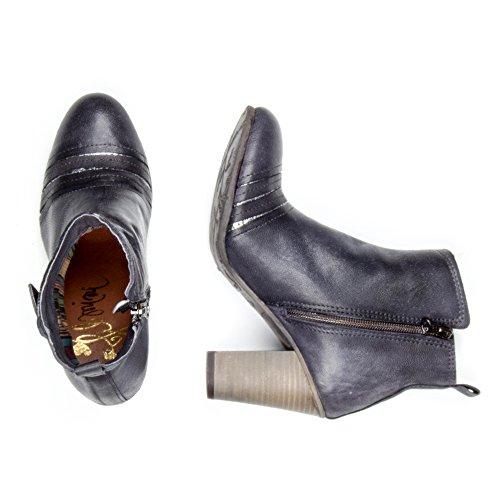 Felmini - Damen Schuhe - Verlieben Lina 8902 - Hochhackige Stiefeletten - Echtes Leder - Mehrfarbig