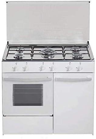 Cocina de gas butano/natural Haltra P5-FB, 5 quemadores, Horno ...