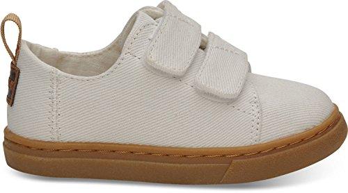 TOMS Tiny Lenny Polyester Sneaker, Size: 6 M US Toddler, Color White Denim