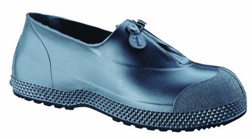 """Servus SuperFit 4"""" PVC Dual Compound Slip-On Men's Overshoes, Black (11993-Bagged)"""