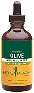 Herb Pharm Certified Organic Olive Leaf Extract for Immune System Support - 4 Ounce