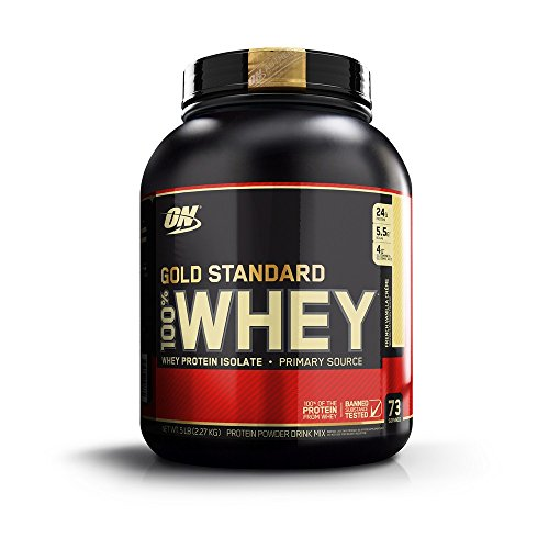 Optimum Nutrition Gold Standard 100% Whey Protein Powder, French Vanilla Creme, 5 Pound