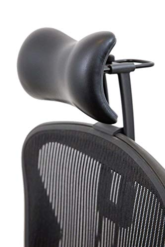 (Atlas Headrest for Herman Miller Aeron Chair (Synthetic Leather))