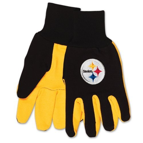 McArthur 9960690676 Pittsburgh Steelers Two Tone Adult Size Glove ()