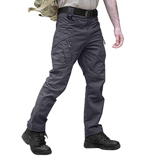 TACVASEN Casual Quick Dry Tactical Ripstop Utility Sports Cargo Trouser Pants (Best Waterproof Hunting Pants)