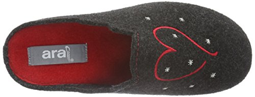 ara Women's Cosy Open Back Slippers Grey (Anthrazit 05) oyc7yVHo
