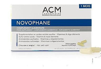 novophane 60 caps ACM alopecia pérdida de cabello pelo y uñas Fragilidad regrowth