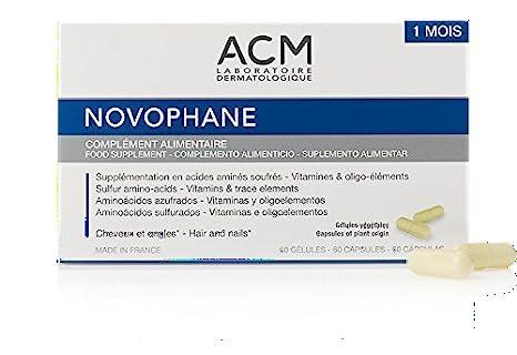 novophane 60 caps ACM alopecia pérdida de cabello pelo y uñas Fragilidad regrowth: Amazon.es: Salud y cuidado personal